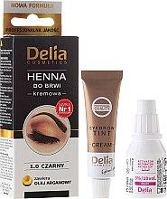 Парфюмерия и Козметика Крем-боя за вежди - Delia Cosmetics Cream Eyebrow Dye