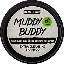 """Дълбоко почистващ шампоан за коса с черна глина """"Muddy Buddy"""" - Beauty Jar Extra Cleansing Shampoo — снимка N2"""
