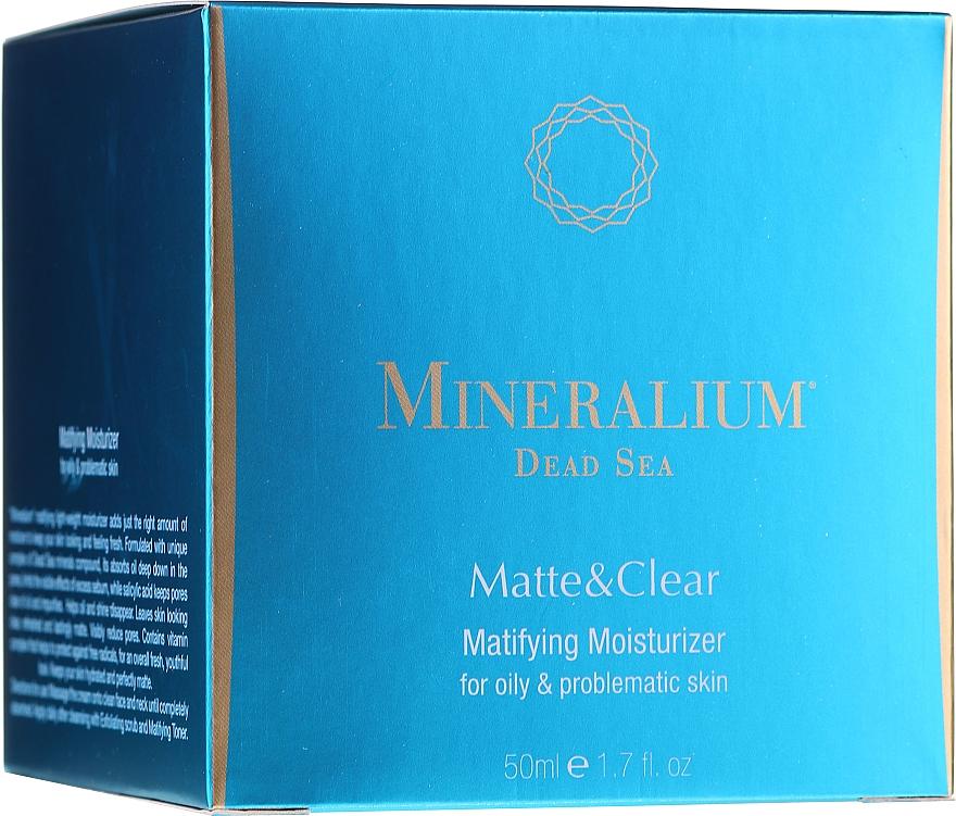 Матиращ и хидратиращ крем за мазна и проблемна кожа - Mineralium Dead Sea Matte & Clear — снимка N1