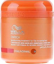 Подхранващо хидратираща маска за тънка и нормална коса - Wella Professionals Enrich Moisturizing Treatment — снимка N1