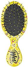 Парфюми, Парфюмерия, козметика Компактна четка за коса с принт, жълта - Wet Brush Squirt Happy Hair