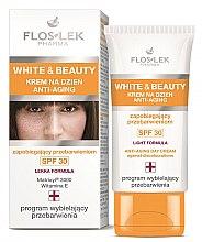 Парфюмерия и Козметика Дневен подмладяващ крем за лице - Floslek White & Beauty Anti-Aging Day Cream SPF 30