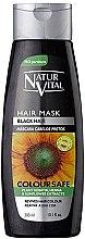 Парфюми, Парфюмерия, козметика Маска за запазване на цвета на боядисаната коса - Natur Vital Coloursafe Henna Hair Mask Black Hair