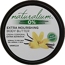 Парфюмерия и Козметика Масло за тяло с ванилия - Naturalium Vainilla Extra Nourishing Body Butter
