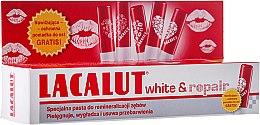 Парфюми, Парфюмерия, козметика Комплект - Lacalut White&Repair (t/paste/75ml + lip/balm/1бр)