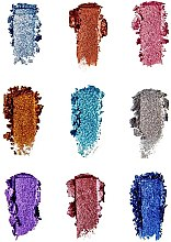 Палитра с блясъци за очи - Makeup Revolution Pressed Glitter Palette Illusion — снимка N4