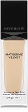 Парфюмерия и Козметика Матиращ фон дьо тен - Givenchy Matissime Velvet Liquid Foundation SPF 20