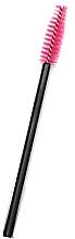 Парфюмерия и Козметика Четка за мигли с найлонови косъмчета, черно-розова - Novalia Group