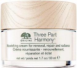 Парфюмерия и Козметика Хидратиращ крем за лице - Origins Three Part Harmony Nourishing Cream