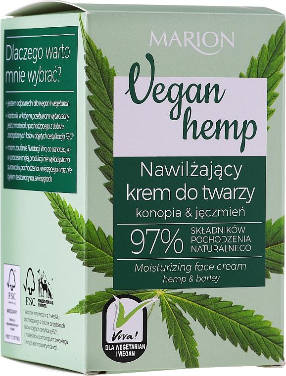 Хидратиращ крем за лице с коноп и ечемик - Marion Vegan Hemp Moisturizing Face Cream Hemp & Barley