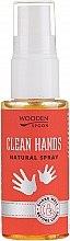 Парфюмерия и Козметика Антибактериален спрей за ръце - Wooden Spoon Clean Hands Natural Spray