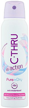 Дезодорант - C-Thru In Action Pure + Dry Antyperspirant
