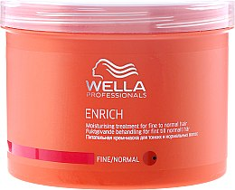 Подхранващо хидратираща маска за тънка и нормална коса - Wella Professionals Enrich Moisturizing Treatment — снимка N3