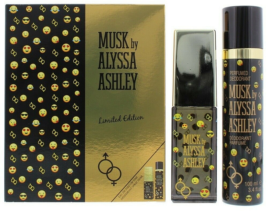 Alyssa Ashley Musk Limited Edition - Комплект (парф. вода/50ml+део/100ml) — снимка N1
