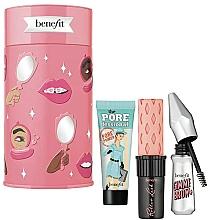 Парфюмерия и Козметика Комплект за грим - Benefit Beauty Thrills Holiday Set (основа за лице/7.5ml + спирала/4g + гел за вежди/1.5g)