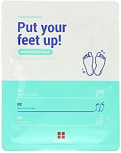 Парфюмерия и Козметика Овлажняваща маска за крака - Leaders Essential Wonders Put Your Feet Up! Mask