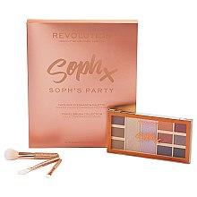 Парфюми, Парфюмерия, козметика Makeup Revolution Soph's Party (палитра сенки за очи/9x1,1g,2x5,2g+четки за грим/3pc.) - Комплект