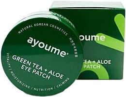 Парфюмерия и Козметика Пачове за очи с екстракт от зелен чай и алое - Ayoume Green Tea + Aloe Eye Patch