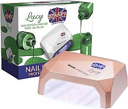 Парфюмерия и Козметика Лампа CCFL+LED за нокти, кафява - Ronney Profesional Lucy CCFL + LED 36W (GY-LCL-021) Lamp