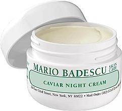 Парфюмерия и Козметика Нощен крем за лице с хайвер - Mario Badescu Caviar Night Cream