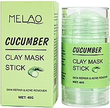 Парфюмерия и Козметика Стик глинена маска за лице с краставица - Melao Cucumber Clay Mask Stick