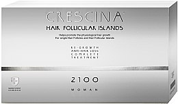 Парфюмерия и Козметика Комплексна терапия на ампули против косопад за жени - Labo Crescina Complete Treatment Hair Follicular Island 2100