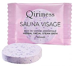 Парфюмерия и Козметика Ароматна почистваща таблетка за лице чрез парна баня - Qiriness Sauna Visage