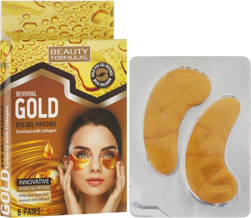 Гел-пачове за очи - Beauty Formulas Reviving Gold Eye Gel Patches