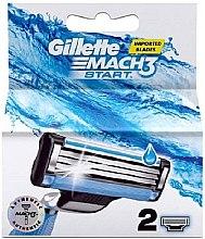 Парфюмерия и Козметика Сменяеми ножчета за бръснене, 2 бр - Gillette Mach3 Start