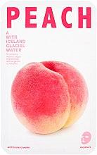 """Парфюми, Парфюмерия, козметика Хидратраща памучна маска за лице """"Праскова"""" - The Iceland Peach Mask"""