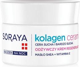 Парфюми, Парфюмерия, козметика Подхранващ нощен крем - Soraya Kolagen i Ceramid Nourishing Cream