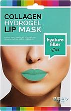 Парфюмерия и Козметика Колагенова хидрогел маска за устни - Beauty Face Collagen Hydrogel Lip Mask Hyaluro Filler