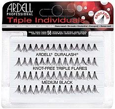 Парфюми, Парфюмерия, козметика Комплект мигли на снопчета - Ardell Triple Individual Medium Black