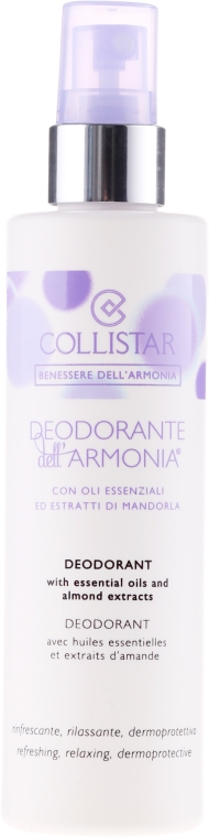 Спрей дезодорант за тяло - Collistar Benessere Dell'Armonia Deodorant