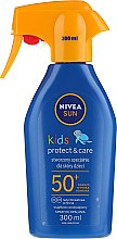 Парфюми, Парфюмерия, козметика Детски слънцезащитен спрей SPF 50+ - Nivea Sun Kids SPF 50+ Caring Sun Spray