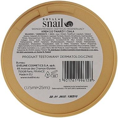 Крем за лице и тяло с екстракт от охлюв - Eveline Royal Snail — снимка N3
