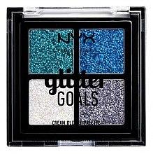 Парфюмерия и Козметика Палитра с кремообразни глитери - NYX Professional Makeup Glitter Goals Cream Quad Palette