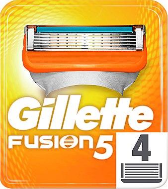 Сменяеми ножчета за бръснене, 4 бр. - Gillette Fusion — снимка N2