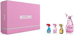 Парфюми, Парфюмерия, козметика Moschino Pink Fresh Couture - Комплект (edt/50ml + edt/mini/5ml + edt/mini/5ml + edt/mini/5ml)