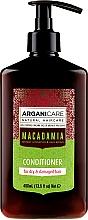 Парфюмерия и Козметика Балсам за коса с масло от макадамия - Arganicare Macadamia Conditioner