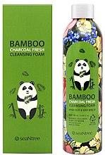 Парфюми, Парфюмерия, козметика Почистваща пяна за лице с бамбуков въглен - Seantree Bamboo Charcoal Fresh Cleansing Foam