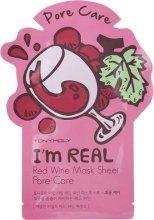 Парфюмерия и Козметика Памучна маска за лице с червено вино - Tony Moly I'm Real Red Wine Mask Sheet