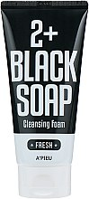 Парфюмерия и Козметика Почистваща пяна за лице с мароканска глина - A'pieu 2+Black Soap Cleansing Foam Fresh