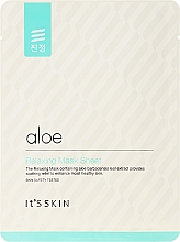 Парфюмерия и Козметика Успокояваща маска за лице от плат с алое вера - It's Skin Aloe Relaxing Mask Sheet