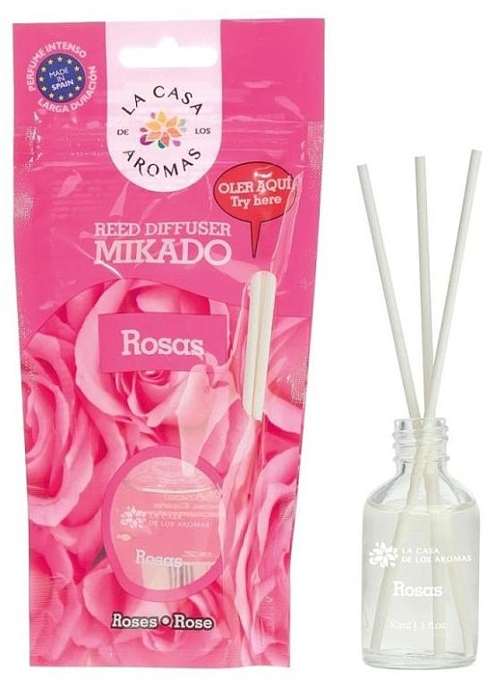 """Арома дифузер """"Роза"""" - La Casa de Los Aromas Mikado Reed Diffuser"""