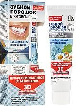 """Парфюмерия и Козметика Зъбен прах за професионално избелване от байкалска синя глина """"3D"""" в готов вид - Fito Козметик Народни рецепти"""