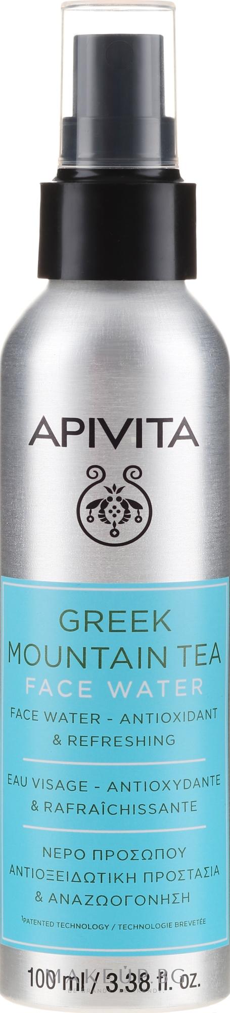 Антиоксидантна и освежаваща вода за лице с горски чай - Apivita Greek Mountain Tea Face Water — снимка 100 ml