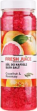 Парфюмерия и Козметика Соли за вана - Fresh Juice Grapefruit and Rosemary