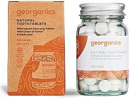 Парфюмерия и Козметика Натурални почистващи таблетки за зъби с портокалово масло - Georganics Natural Toothtablets Orange
