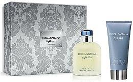 Парфюмерия и Козметика Dolce & Gabbana Light Blue Pour Homme - Комплект (тоал. вода/75ml + афтърш. балсам/75ml)